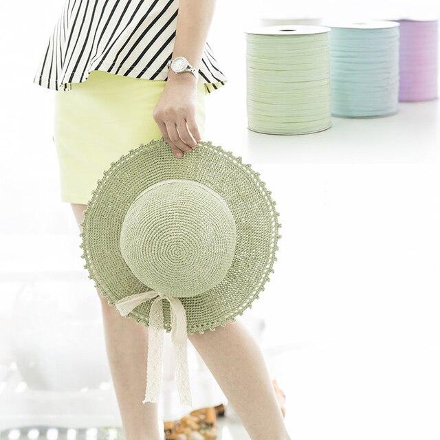 Hot Fashion Bast Garn Für Sommer Strand Hut Häkeln Bast Tasche