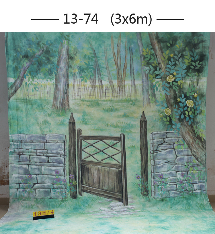 10*20ft Hand Painted Muslin scenic Backdrops for photography,photo studio background backdrop1374, wedding photography backdrops