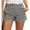 Bigsweety Neue Mode Plaid Shorts Frau Shorts Sommer Schwarz und Weiß Mittlere Taille Beiläufige Tasche Gerade Shorts Heißer Verkauf|Shorts|   -