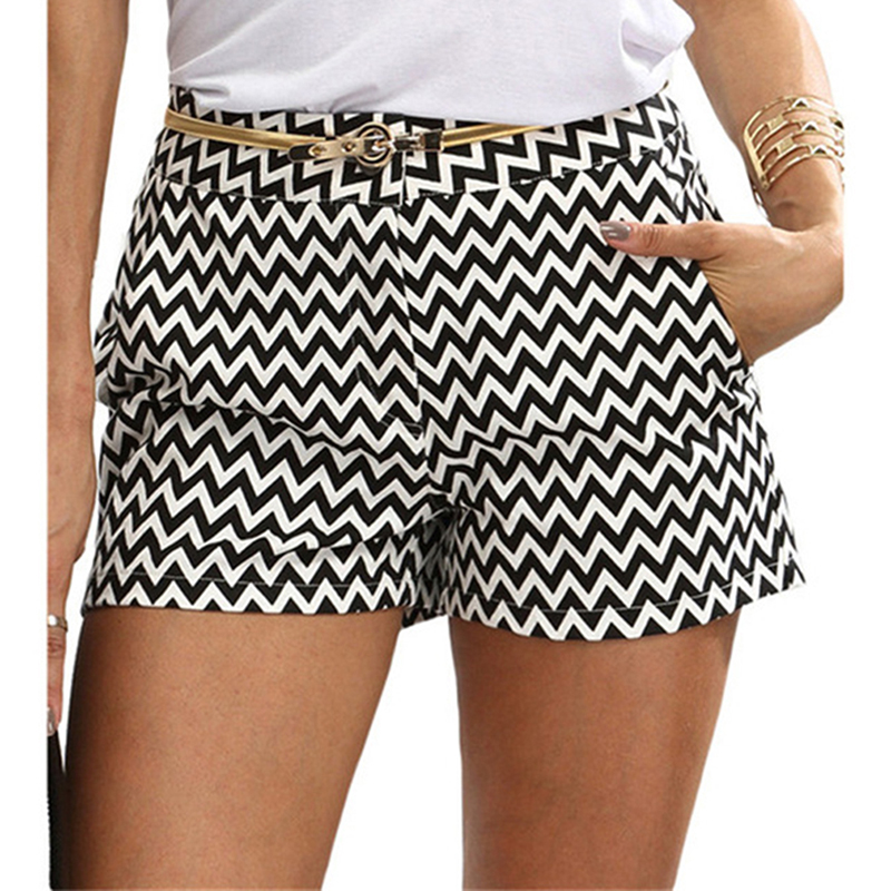 Bigsweety Plaid Shorts Pocket Black White Hot-Sale Summer Casual New-Fashion Straight title=