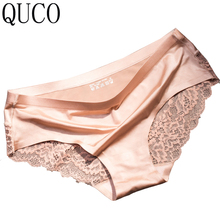 ФОТО QUCO brand 7/lot Womens Panties Underwear Women Modal Lingerie Cute Girl Lace Briefs Ladies Seamless Triangle Underwear W8