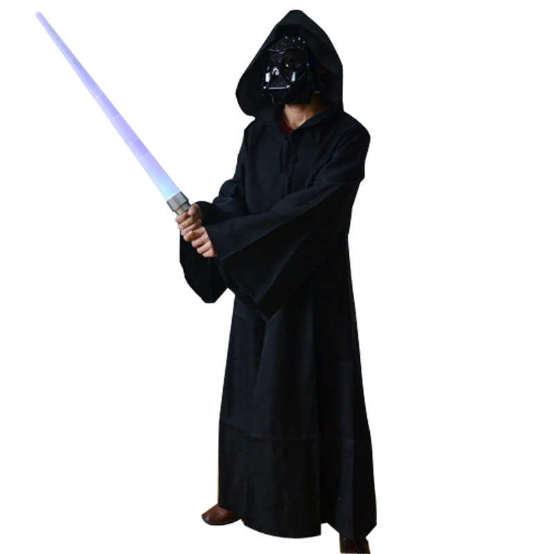 Star Wars ชุดคอสเพลย์ผู้ใหญ่ Jedi Knight Darth Vade Robe Cloak Cape Hoodie เสื้อกันหนาว Lightsaber ปาร์ตี้ฮาโลวีน Disguise