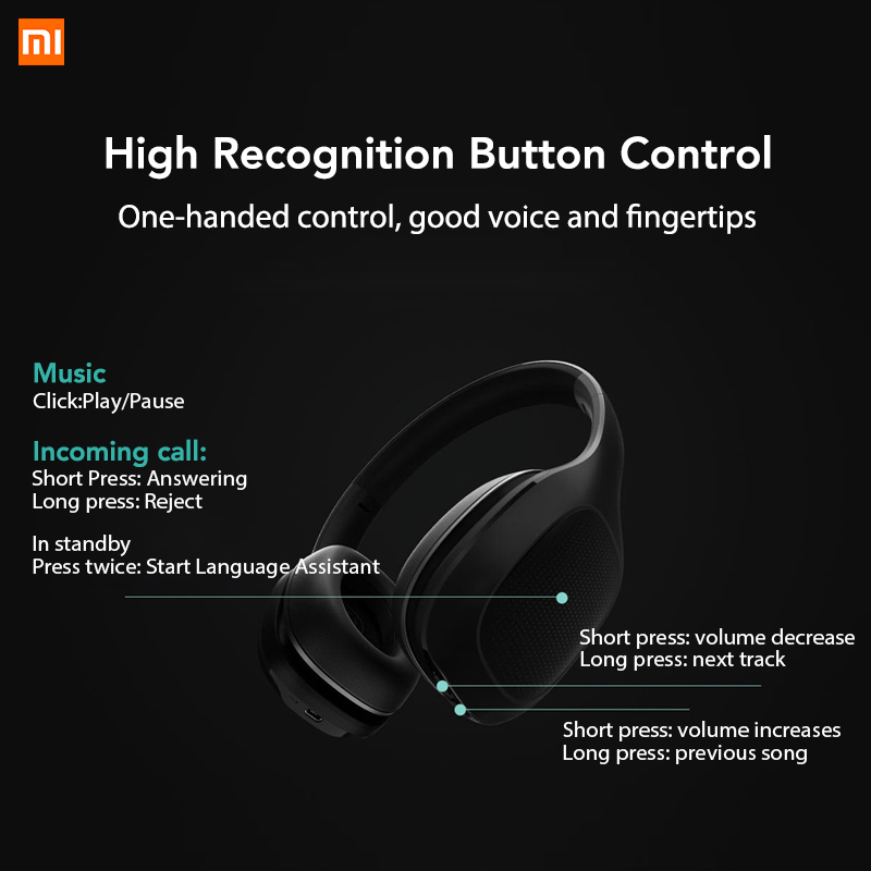 Original Xiaomi Mi Bluetooth Headphone Xiomi Headset 40mm Dynamic Driver AptX Bass Stereo Headset with Dual Mics-in Bluetooth Earphones & Headphones from Consumer Electronics    2