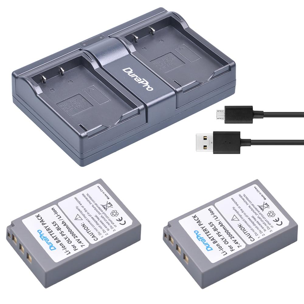 2*BLS-5 BLS50 BLS5 BLS-50 2000mAh battery+USB Dual Charger for OLYMPUS EP1 PL2 PL5 PL6 E-PL7 E-PM2 E450 E600 E620 Stylus EM10 et