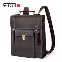 BJYL Autumn and winter new men bag retro mad horse leather shoulder bag multi functional backpack