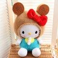 50 cm/70 cm Kawaii Biscoitos Cookies Olá Kitty Arco de Pelúcia Boneca de Pelúcia Brinquedo de Presente de Aniversário Para A Menina criança Decoração Da Casa