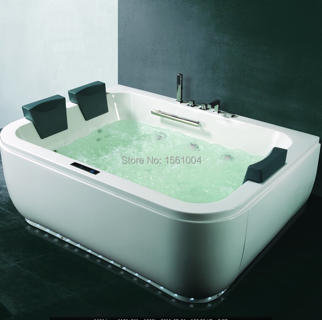 Hot Adult Bathtub Spa Air Bubble Bathtub with Digital Control Panel ...