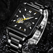 OUBAOER שעונים מכאניים של הגברים Mens השלד אוטומטי צפו גברים זכר עסקי שעון Relojes Hombre orologio uomo