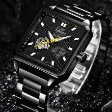Relojes mecánicos OUBAOER para Hombre, reloj automático de esqueleto para Hombre, reloj de negocios para Hombre, reloj orologio uomo Relojes para Hombre