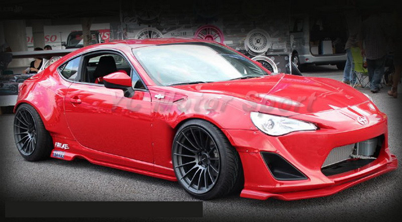 GT86 FT86 ZN6 FRS BRZ ZC6 Greddy X Rocket Bunny Ver.1 Style Front Fender Cover FRP (14)
