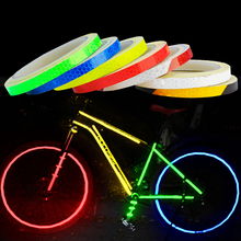 1PC 8 Meter Car Styling Reflective Stripe Tape Motorcycle Bike Body Rim Wheel Stickers Decorative Blue/Red/Yellow