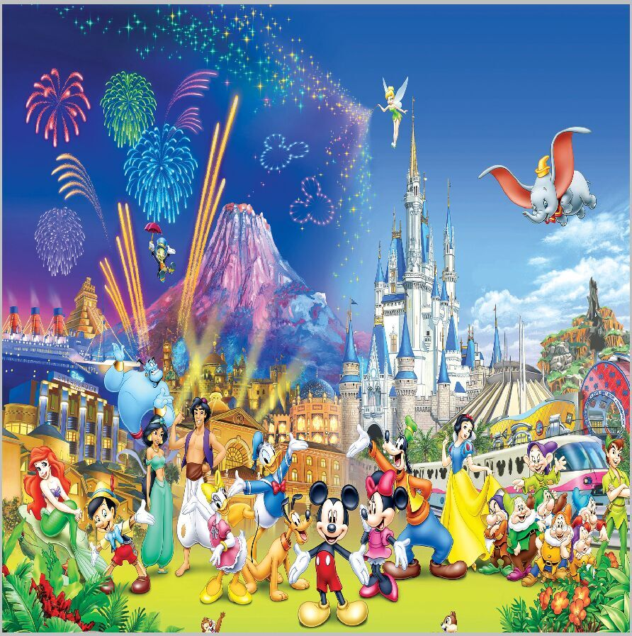 8x8ft Firework Princess Castle Palace Funfair Mickey Snow