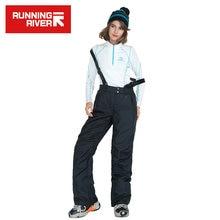 Река новое поступление женщин сноуборд брюки теплые лыжные брюки Водонепроницаемый катание на коньках брюки женщин сноуборд брюки #U1219