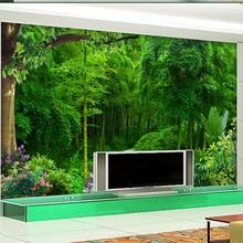 3D Wallpaper  Green Bamboo Green Fresh
