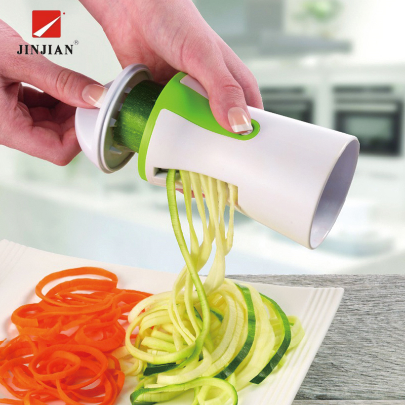 JINJIAN Овощной терка-шинковка для фруктов Терка спиральный измельчитель нож Spiralizer для моркови огурец кабачок кухонные инструменты гаджет