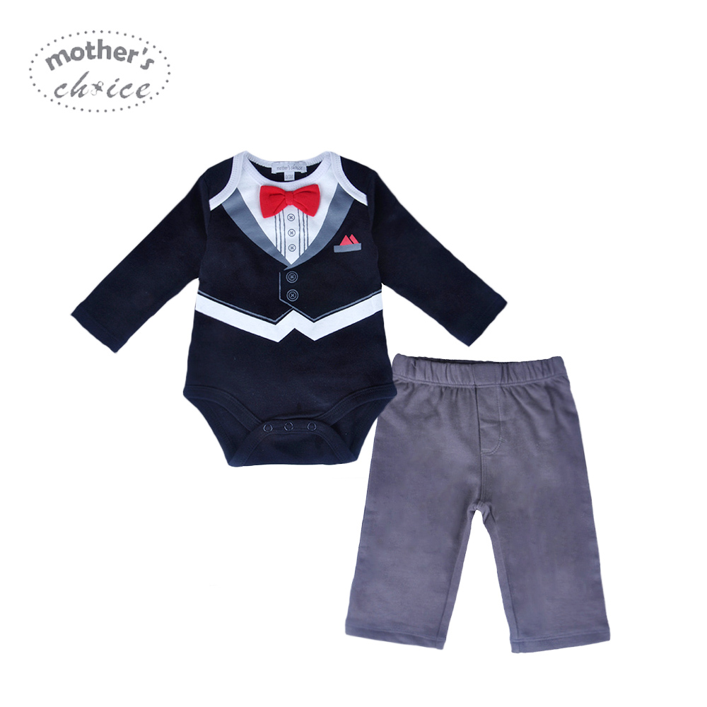 40335928b9ca Mother s Choice Baby Set Gentleman Tie Boys Summer Clothes 2 Pieces ...