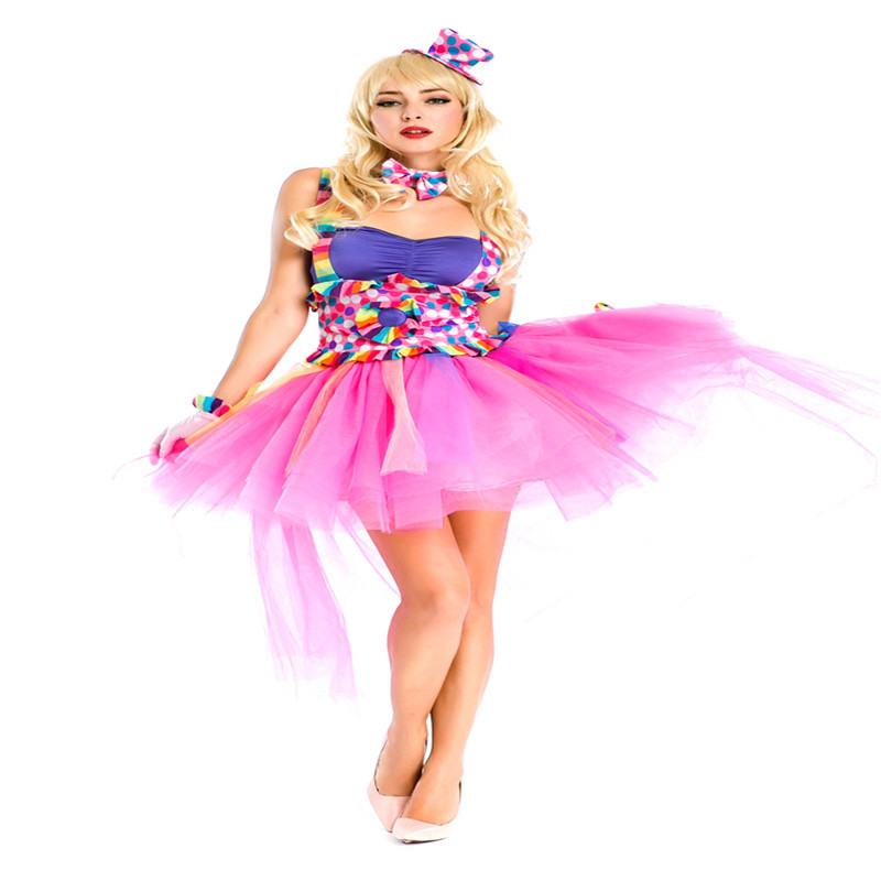 Halloween Party Christamas Woman Cosplay Clown Role Play New Style Cute Circus Adult Carnaval Costume Performance Clothing EN001