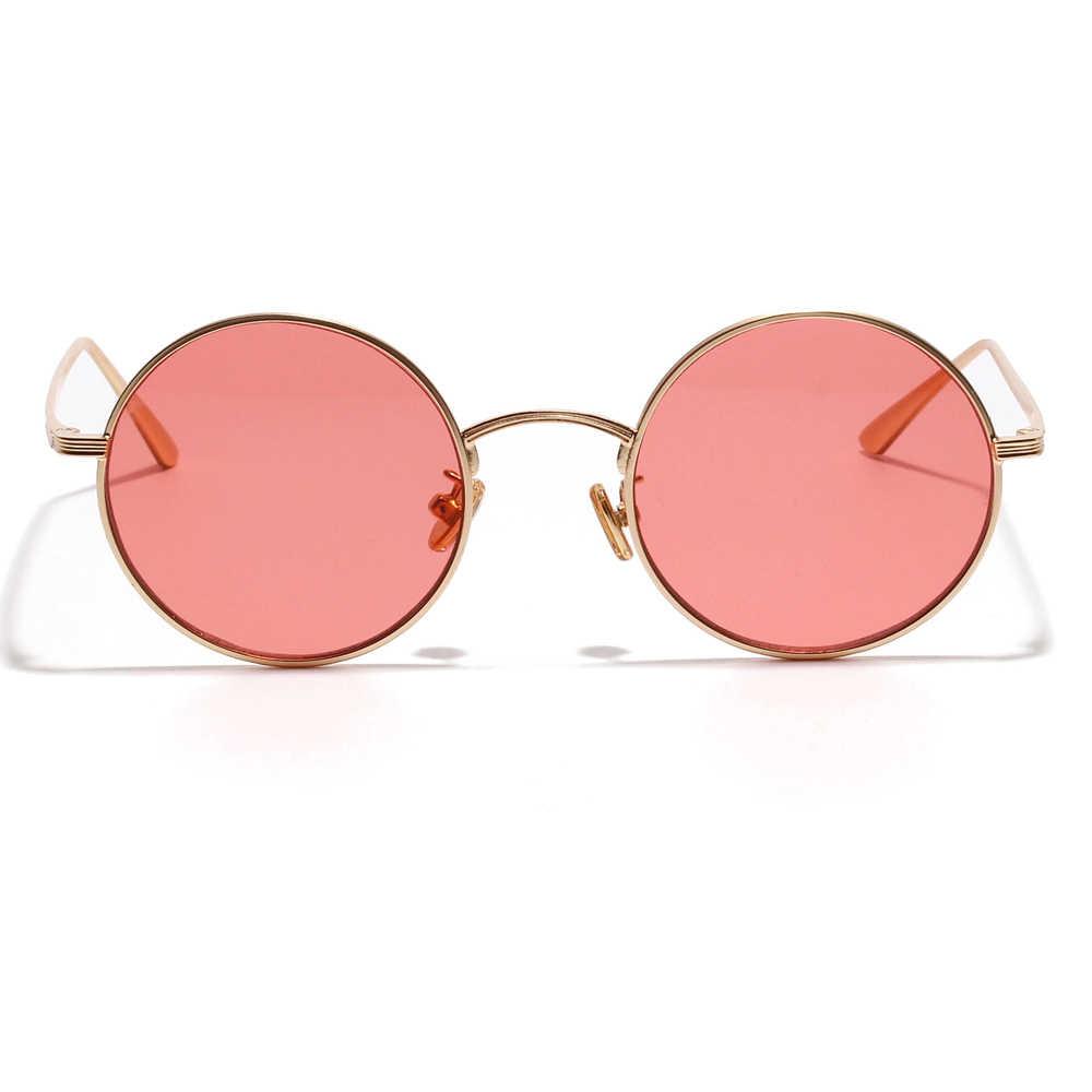 d0266c5ceb ... Kachawoo small round sunglasses women gold metal frame yellow red  circle sun glasses men retro eyeglasses ...