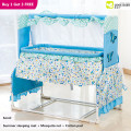 Baby shaker cradle baby bed game bed newborn sleeping basket hammock swing bed mosquito net bb bed light
