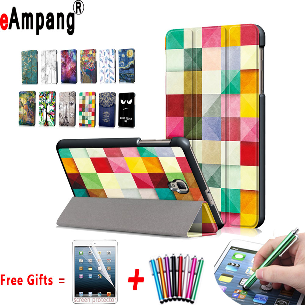 For Samsung Galaxy T380 T385 Case Slim Light Magnet Smart Sleep Wake Up Cover For Samsung Galaxy Tab A 8.0 2017 T380 T385 Case