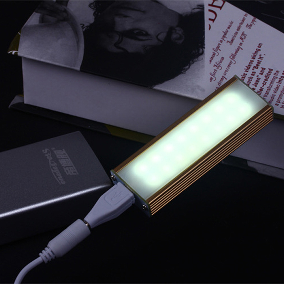 Livarno led night light - Portable Touch Switch 16 Led Night Light Mobile Camping Lamp Card Micro Usb Gadget Magnet Adsorption