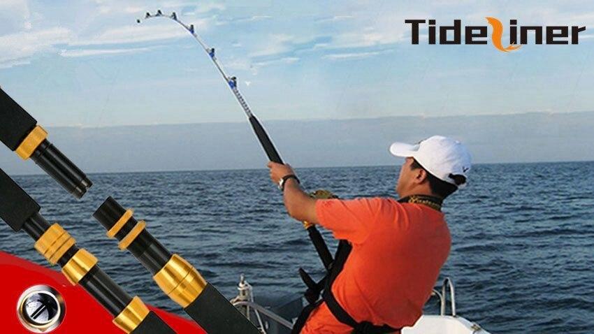 1 98m Heavy duty boat fishing rod quality raft jigging trolling rod fishing pole saltwater rod