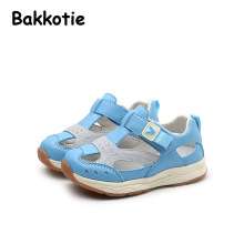 Bakkotie 2017 New Fashion Spring Summer Casual Flats Baby Boy Leisure Shoe Girl Shoe Blue Anti Kick Soft Sole First Walkers Pink