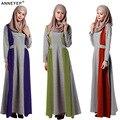 Мусульманин платье абая для женщин Исламского платья дубай кафтан Исламская одежда Мусульманская абая Платье турецкий джилбаба хиджаб 041