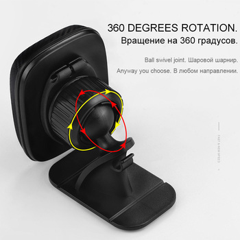 HOCO Best Car Phone Holder Magnetic Stand for iPhone X Xs Max XR 8 Samsung S9 Cellphone Magnet Mount 360 Rotation Holder in Car 3