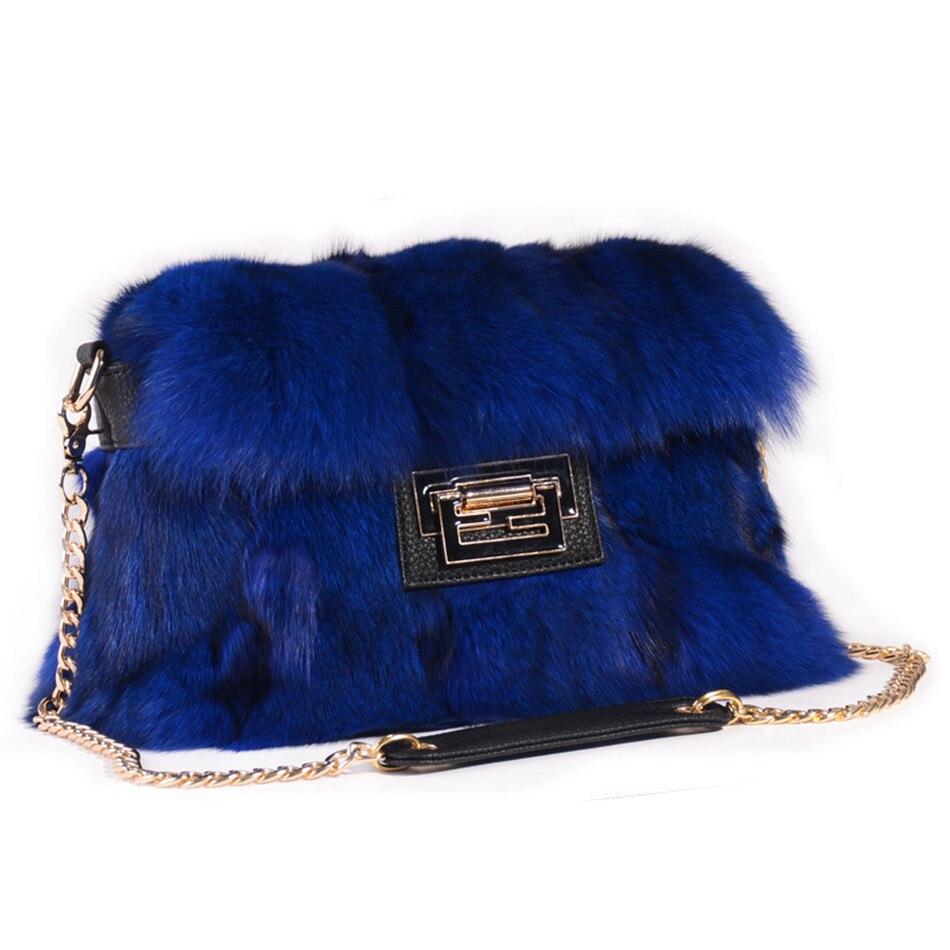 Real fox fur handbags bag Grey fur bag pathwork real fur handbag Blue Handbag Red Fur Bag Fashion Handbag