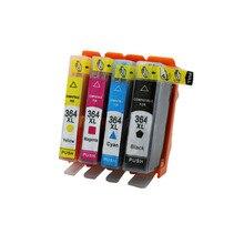 4 шт. 364XL Совместимый картридж для HP364 XL Photosmart 5520 5524 6510 6520 7510 B109 B110 B209 B210 C309 c310 C410 принтера
