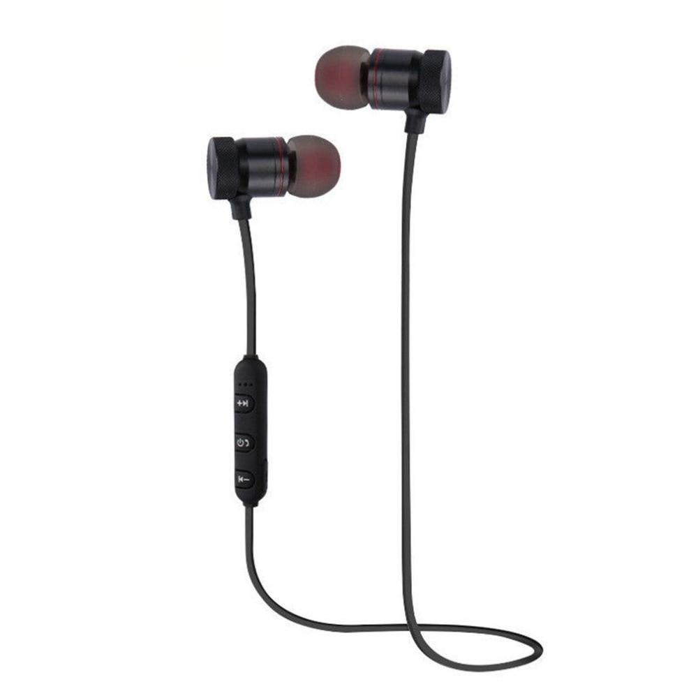 Earphones & Headphones Responsible 2018 Hottest Fashion Magnetic Wireless Bluetooth Sports Earphones Heavy Bass Metal Earbuds In-ear Earpieces Universal For Phone