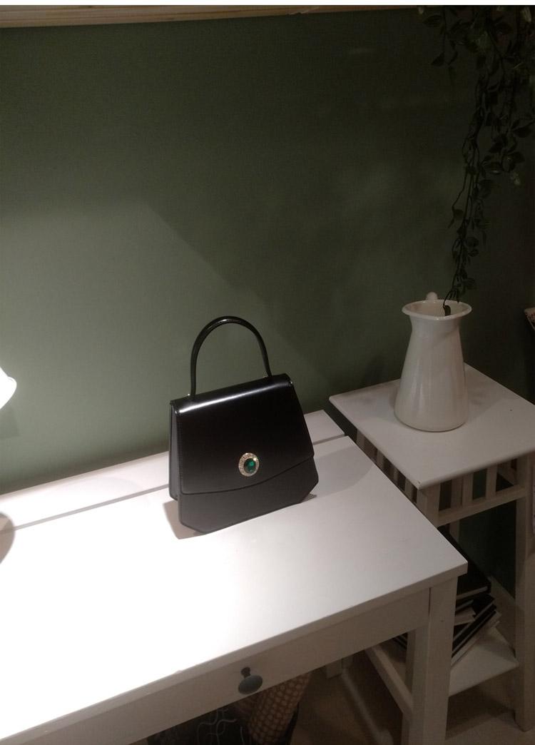 Conception Unique de concepteur Vintage femmes diamants noir sacs à main dame PU en cuir Messenger épaule Mini sac OL sacs sac à bandoulière - 6