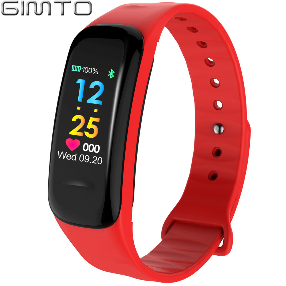 GIMTO Bluetooth Smart Bracelet Watch Women Men Sport LED Fitness Tracker Heart Rate Blood Pressure Sleep Monitor Pedometer Clock цена