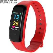 Gimto Bluetooth Smart Часы-браслет Для женщин Для мужчин Спорт светодиодный Фитнес трекер сердечного ритма Приборы для измерения артериального давления сна Мониторы шагомер часы