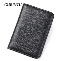 Genuine Leather Credi Card Wallet RFID Front Pocket Wallet Mens Women ID Card Pack Bank Card