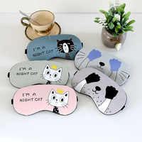 Cute Cat Cartoon Soft Sleeping Eye Mask Soft Padded Sleep Travel Shade Cover Rest Relax Sleeping Blindfold