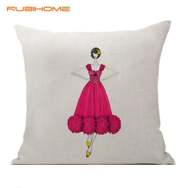 RUBIHOME Νέα μόδα κόκκινο φόρεμα - Αρχική υφάσματα - Φωτογραφία 1
