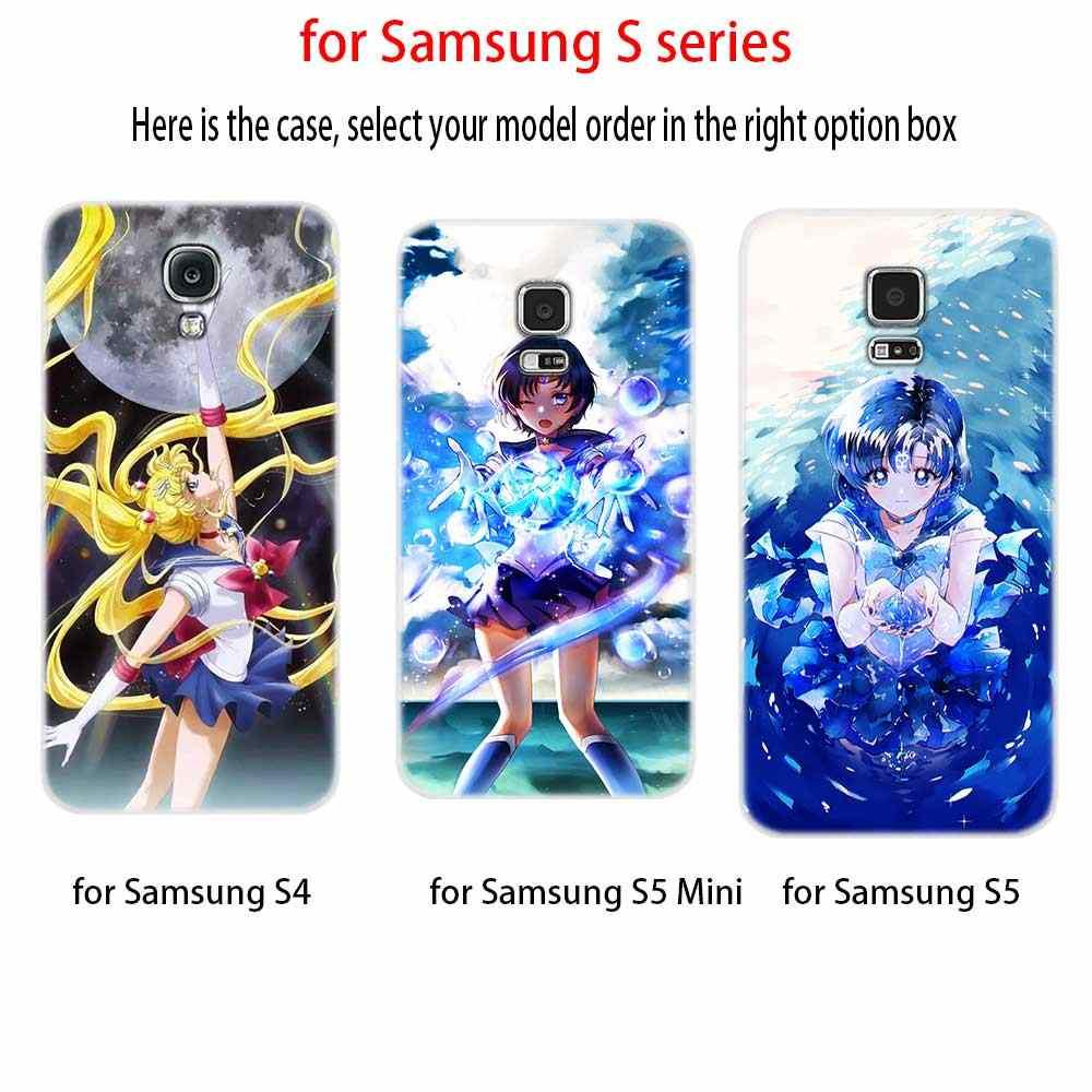 Чехол для samsung S4 S5 мини S6 S7 Edge Plus S8 S9 плюс S10 чехол мягкий силиконовый 3D ТПУ M20 Сейлор Мун узор