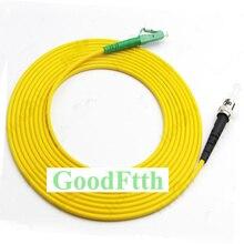 Fiber yama kablosu bağlantı kablosu LC/APC ST/UPC SM Simplex GoodFtth 1 15m