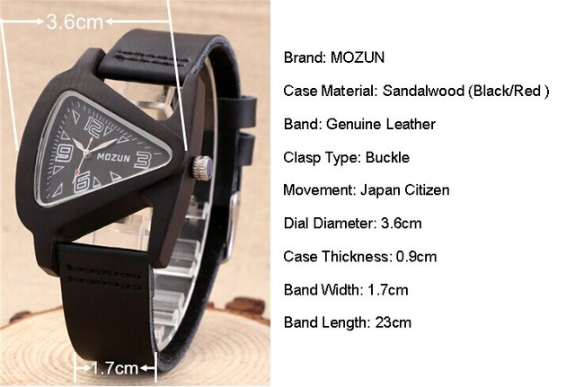 Zegarek damski drewniany MOZUN oryginalny design