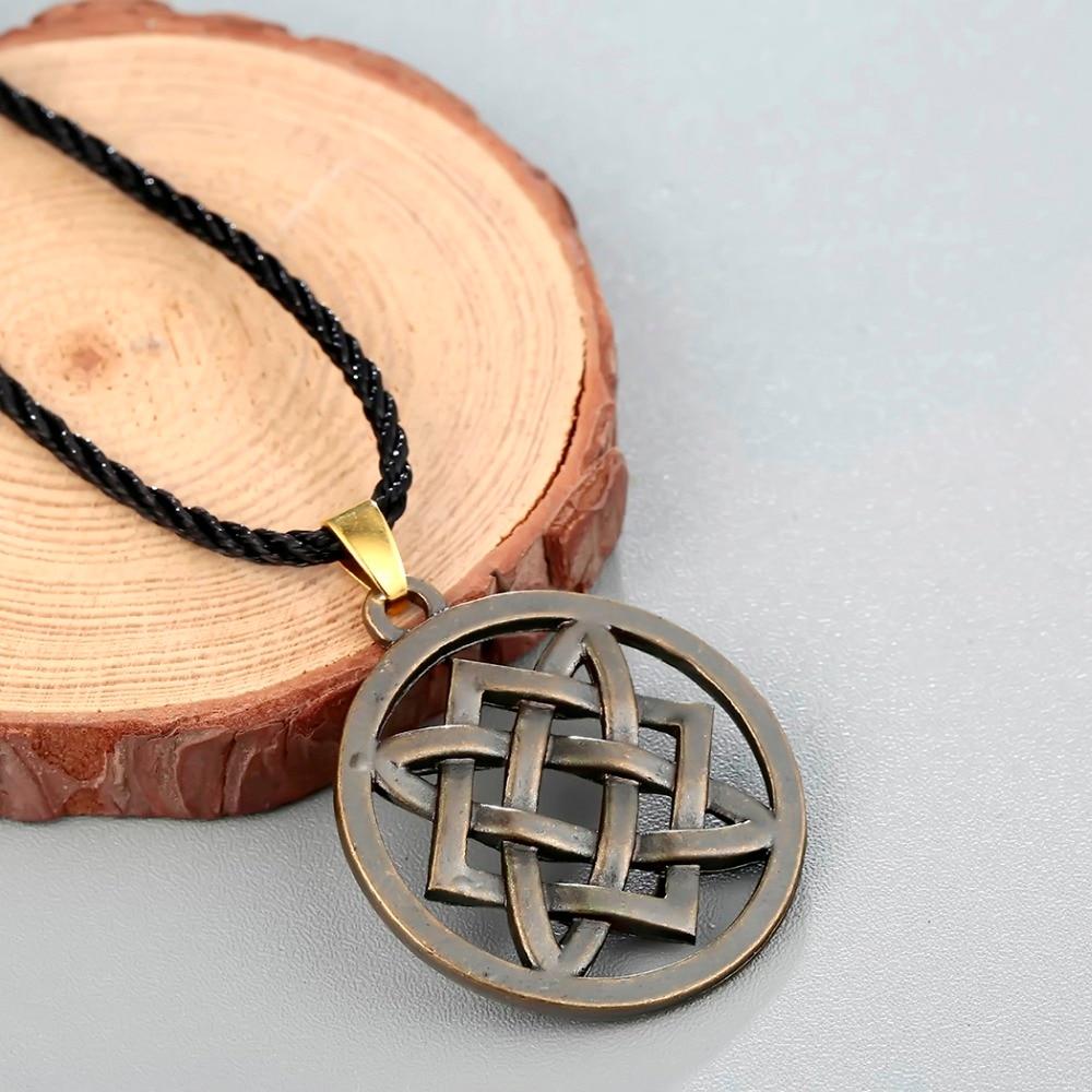 CHENGXUN Vintage Slavic jewelry Women Men Lada Star Pendant Necklace Adjustable Rope Chain Choker Collier Protection Amulet 4