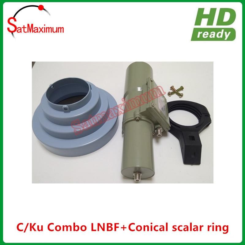 送料無料円錐スカラーリング lnb ホルダーキット + 100% アルミ高利得 C/ku バンドコンボユニバーサル LNBF  グループ上の 家電製品 からの 衛星 TV 受信機 の中 2