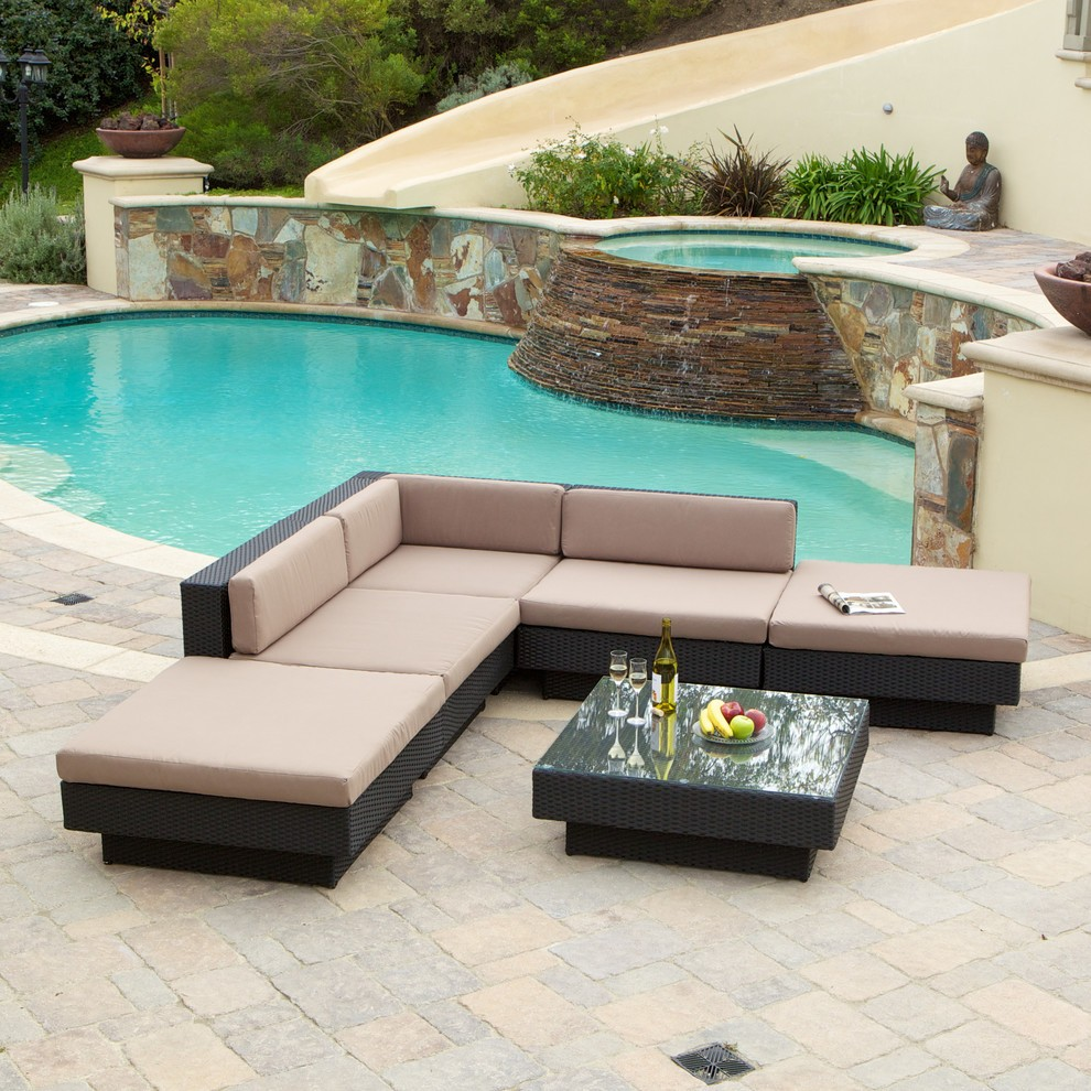 contemporary outdoor lounge sets