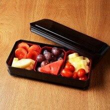 Creative imitation walnut fruit tray double layer plain color characteristic salad tray plastic fruit bowl