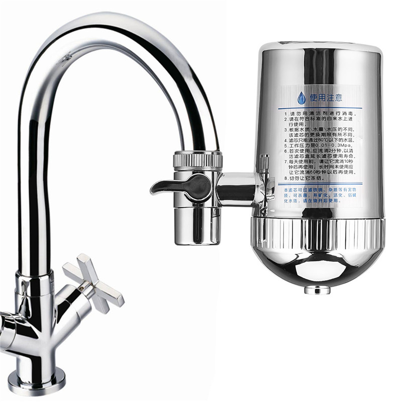 Stainless Steel Faucet Water Filter Mineral Stone Tap Water Purifier Kitchen Tap Water Filter Rust Removal Washable Filter 31-in Water Filters from Home Appliances