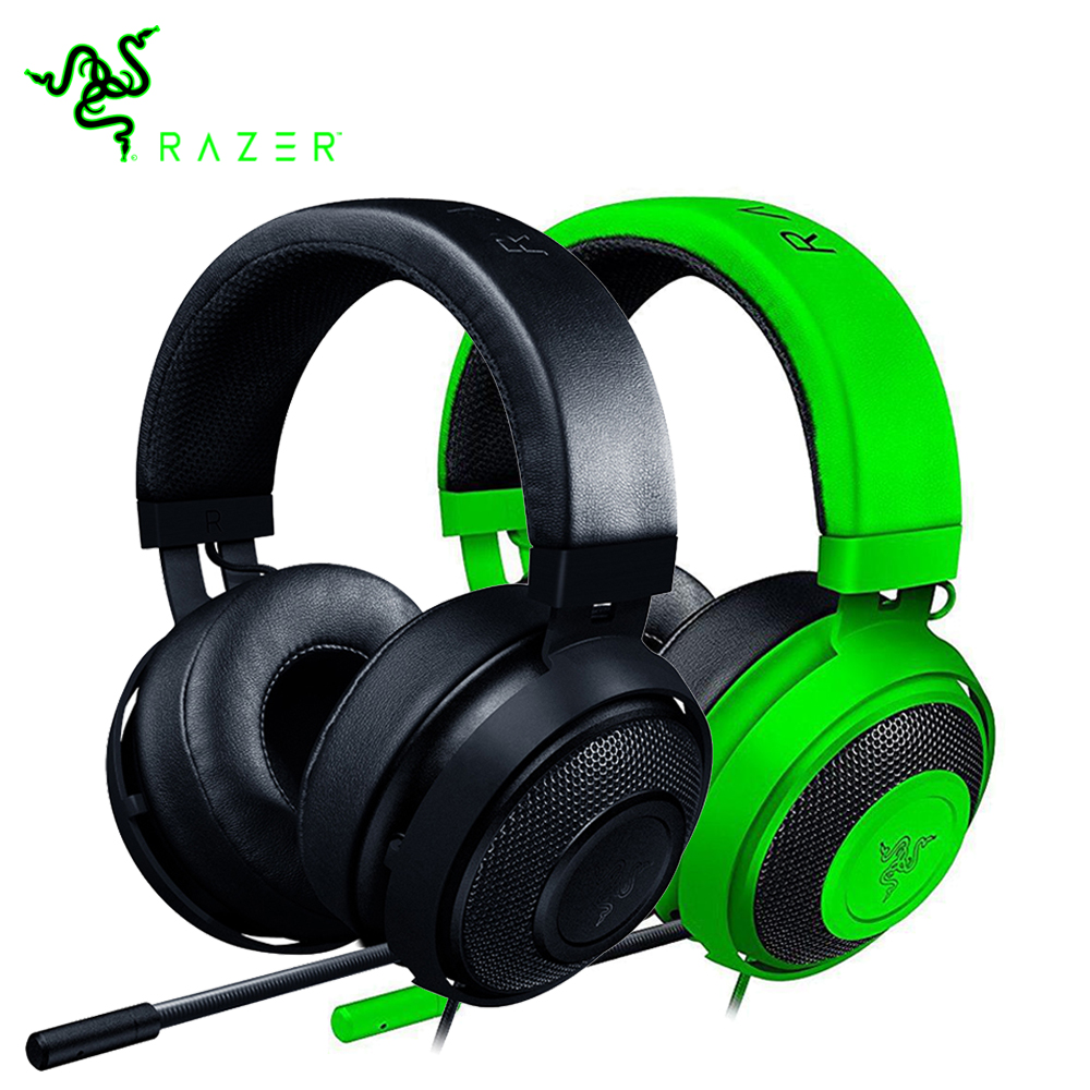 a18a97ef6c2 Razer Kraken Pro V2 Gaming Headset with Microphone Oval Ear Cushions Analog  3.5 mm for PC for Xbox One for PS4 eSport Headphone