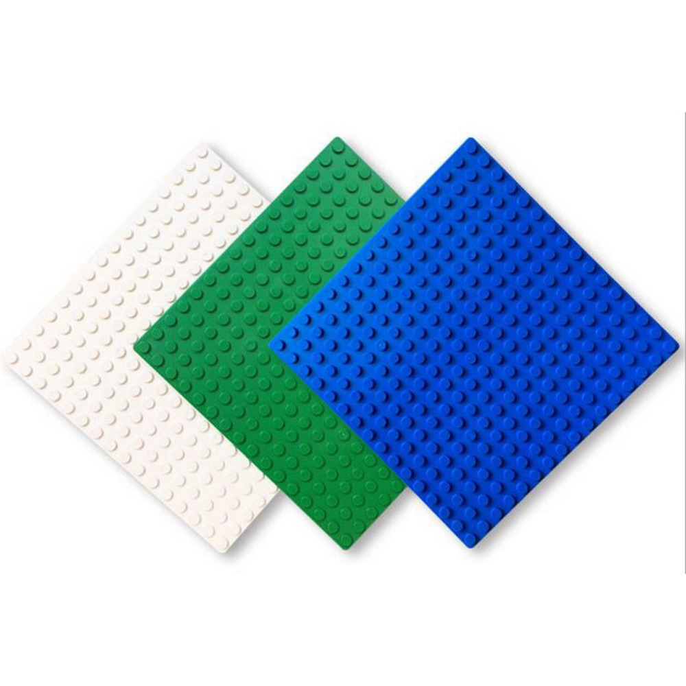 1Pcs Small Blocks Base Plate 16*16 Dots Building Plastic Blocks Toys DIY Baseplate for Avenger super heroes figure 12.8x12.8cm base plate for tdp 0