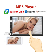 NEW Mirror Link Car MP5 MP3 Player Car auto radio Bluetooth Audio 7 inch 2 din Touch Screen Stereo USB/FM/AUX/SD No CD/DVD & GPS