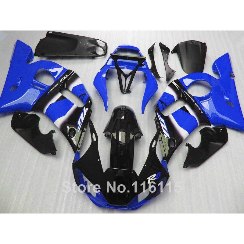 High grade ABS fairing kit for YAMAHA YZF-R6 1998-2002 black blue YZF R6 bodywork fairings set 98 99 00 01 02 NX70
